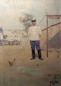 Портрет на генерал Михаил Савов от Ярослав Вешин, 1905 г.