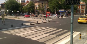 пешеходна пътека като клавиши на пиано в Пловдив
