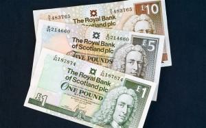 Шотландски банкноти.  Източник telegraph.co.uk