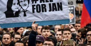 Протест след убийството на Ян Куциак и Мартина Кушнирова на 21 февруари